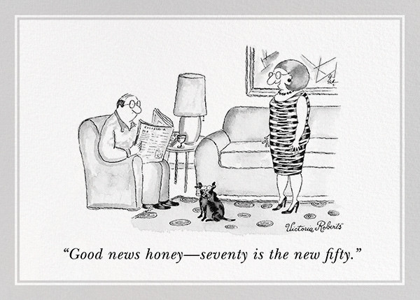 Seventy is the New Fifty - The New Yorker - Funny birthday eCards