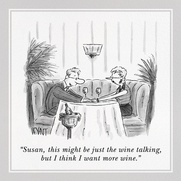More Wine - The New Yorker - Dinner party