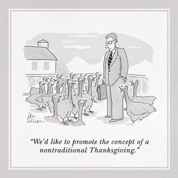 Nontraditional Thanksgiving - The New Yorker - Thanksgiving