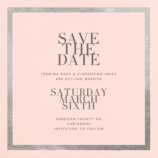Editorial II (Save the Date) - Meringue/Silver - Paperless Post - Save the date