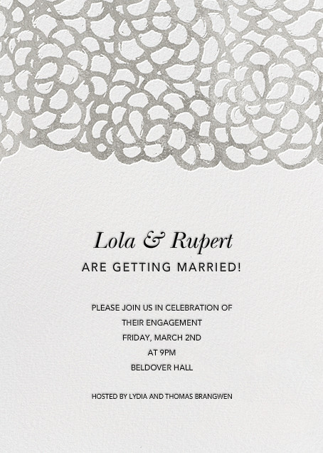 Gardenia - White/Silver - Oscar de la Renta - Engagement party