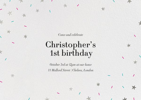 Starfetti - Silver - Paperless Post - Kids' birthday