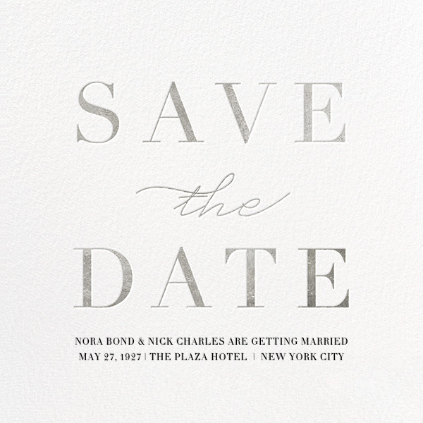 Remnant - Silver - Paperless Post - Save the date