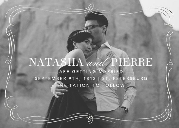 Plume (Photo Save the Date) - Silver - Paperless Post - Photo