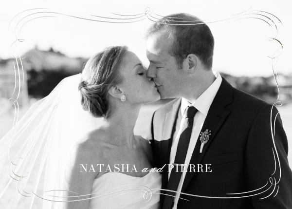 Plume (Photo Stationery) - Silver - Paperless Post - Wedding stationery