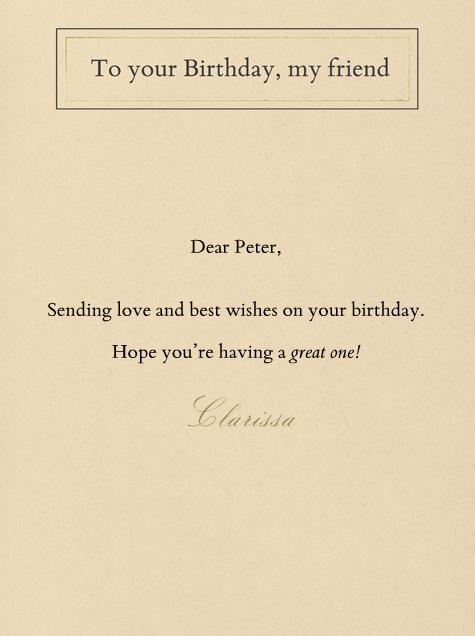 Tip of the Hat - Paperless Post - Birthday - card back