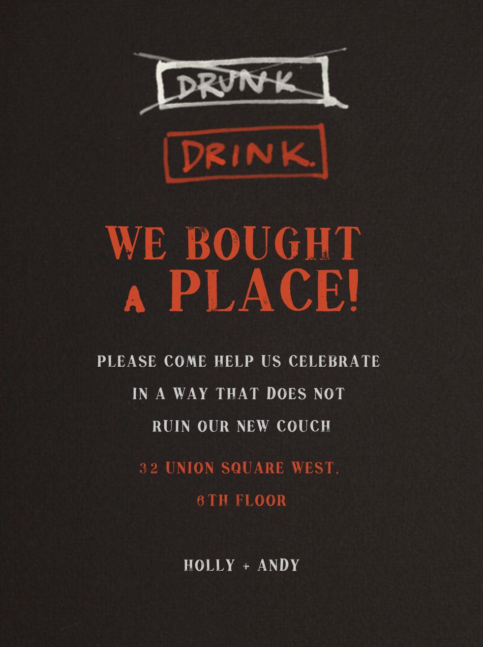 Drink / Drunk - Paperless Post - Housewarming