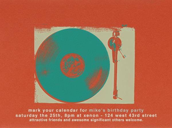 Vinyl - Paperless Post - Adult birthday