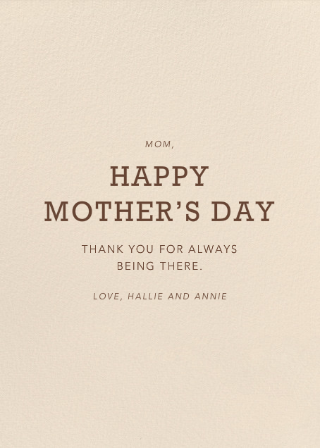 Best Mom Ever - Hello!Lucky - Mother's Day - card back