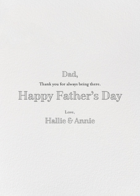 Dandy - Hello!Lucky - Father's Day - card back