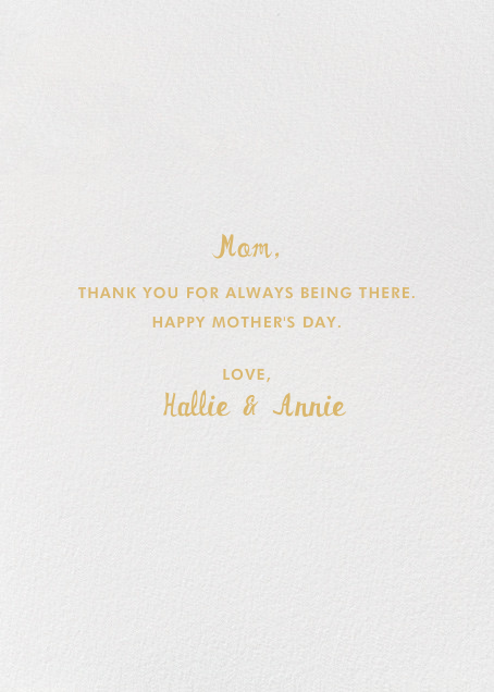 Solid Gold Mom - Hello!Lucky - Mother's Day - card back