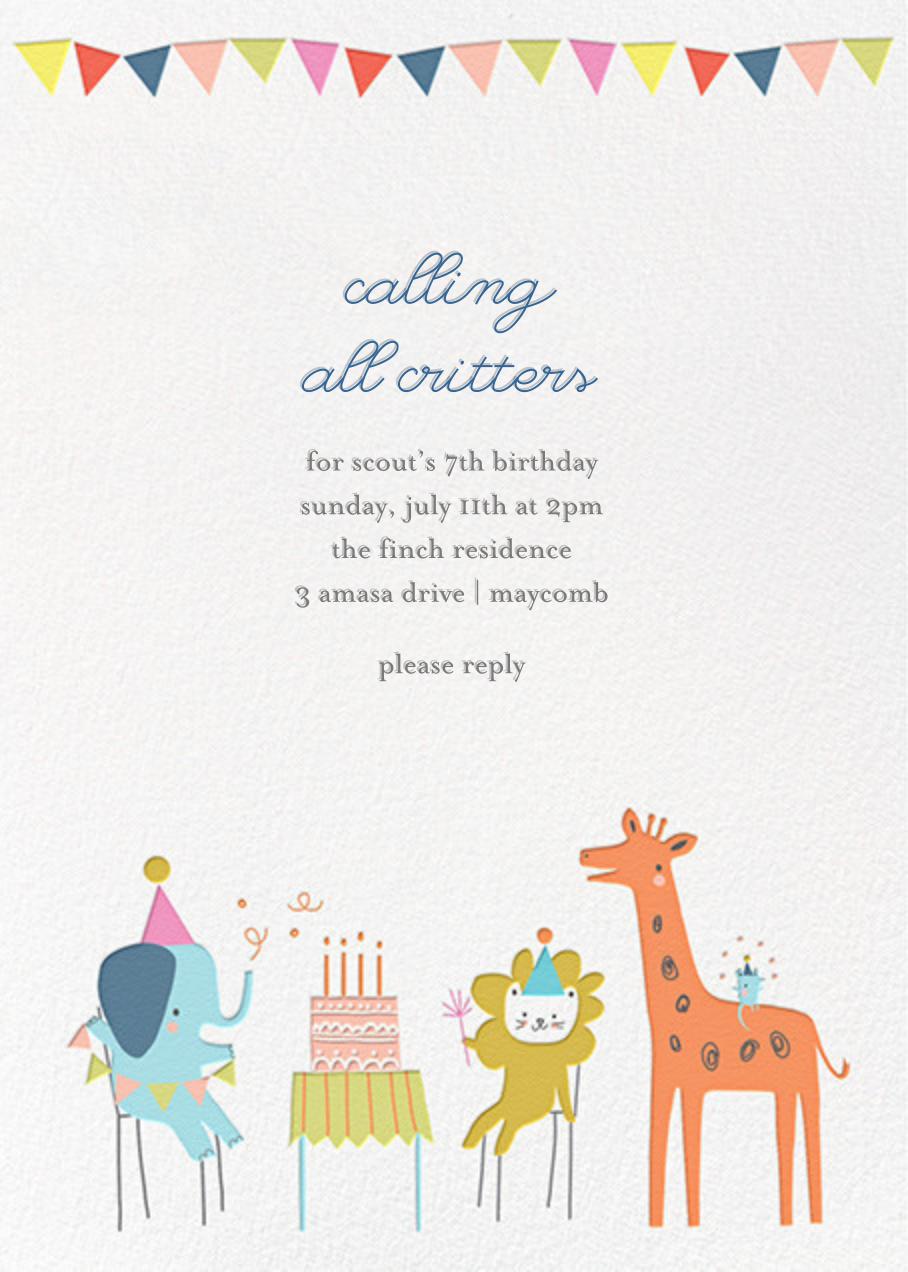 Jungle Birthday Bash (Invitation) - Little Cube - Kids' birthday
