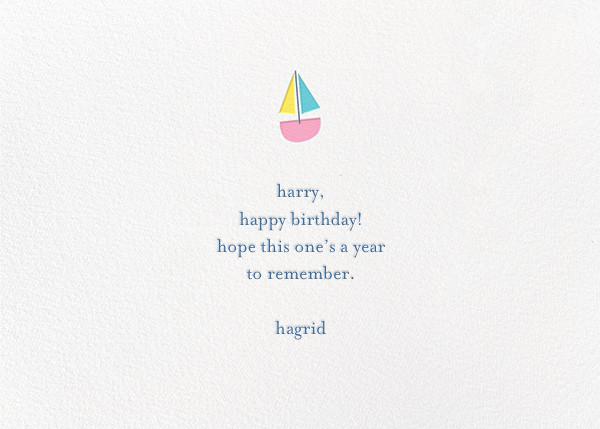 Moby's Splash - Little Cube - Birthday - card back