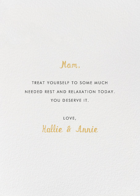 Tiger Mom - Hello!Lucky - Mother's Day - card back