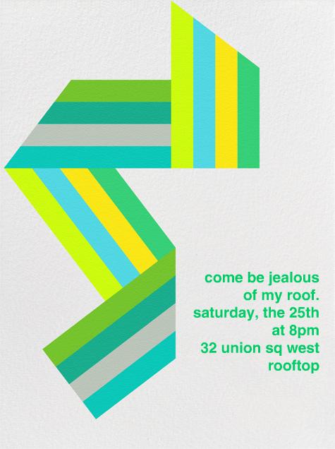 Supergraphic Ribbon - Green - Paperless Post - Summer entertaining