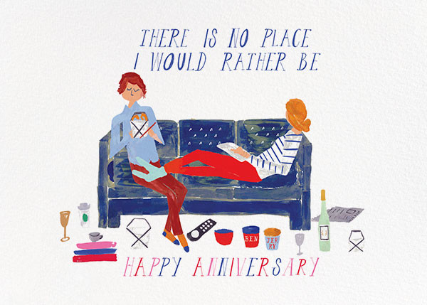 Cheers from the Couch - Fair/Tan - Mr. Boddington's Studio - Anniversary cards