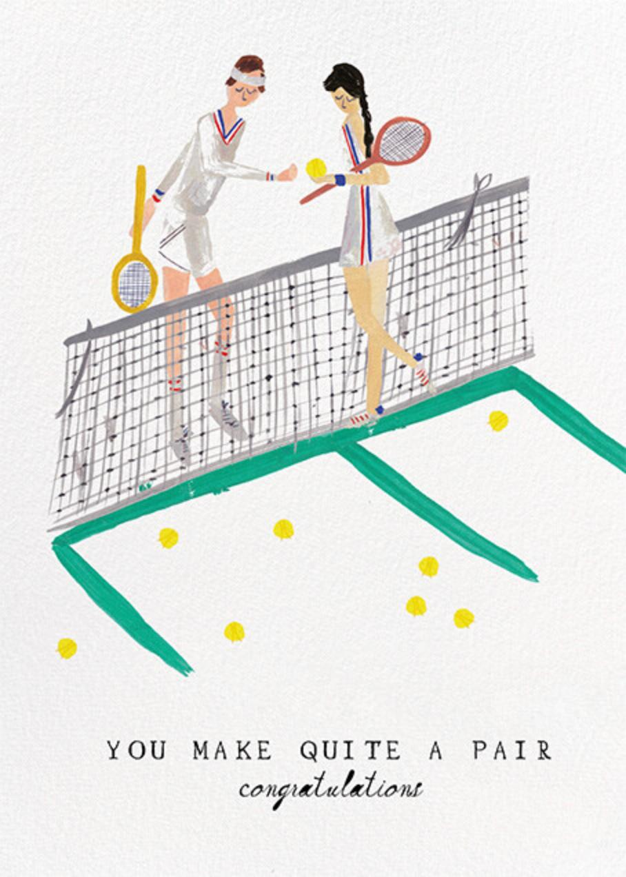 Tennis is for Lovers - Fair/Light - Mr. Boddington's Studio - Congratulations