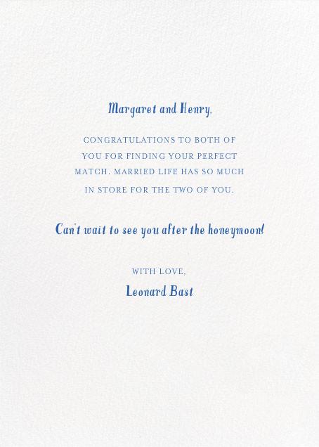 The Boat is Fast - Mr. Boddington's Studio - Congratulations - card back