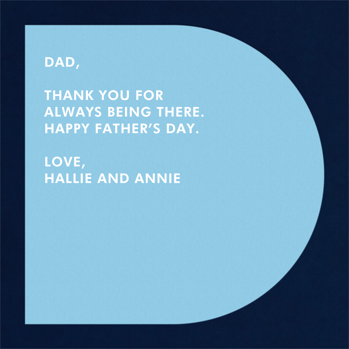 Da-aaad - Paperless Post - Father's Day - card back