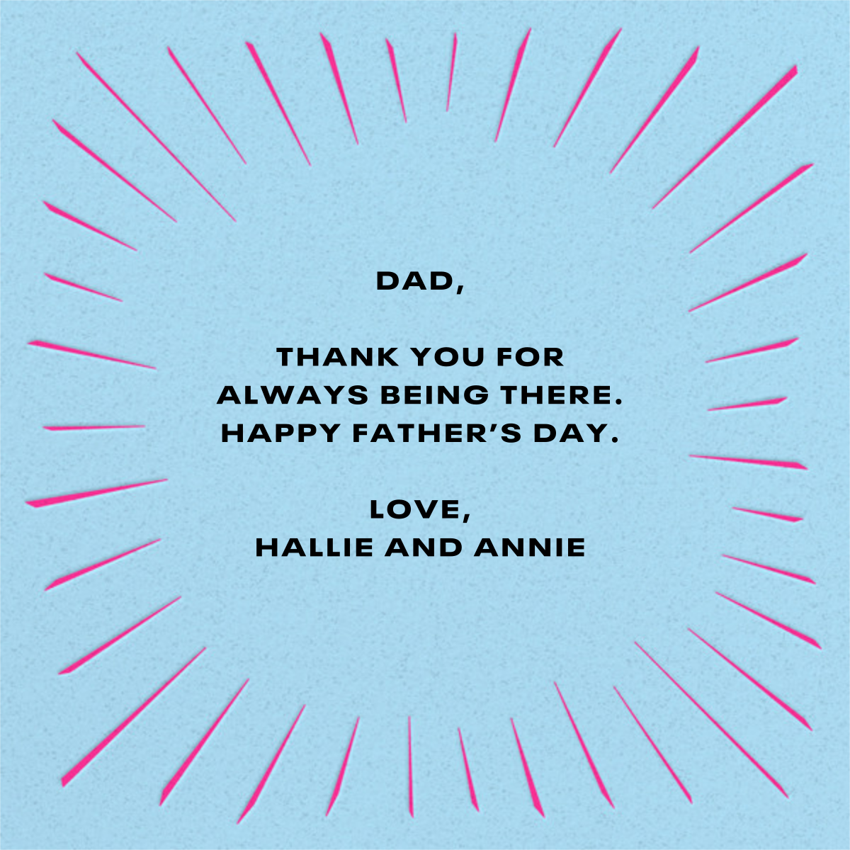 The Original - Paperless Post - Father's Day - card back