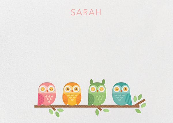 Owl (Stationery) - Petit Collage - Kids' stationery