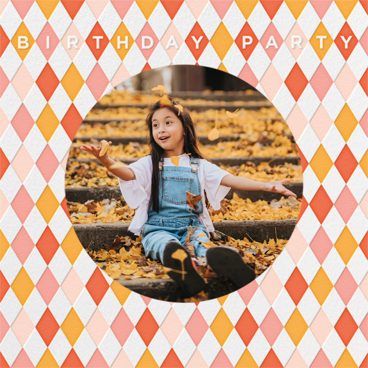 Harlequin - Pink - Petit Collage - Kids' birthday