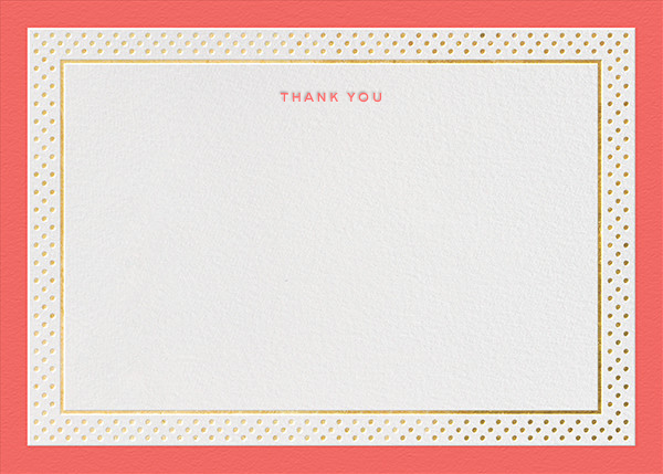 Jemma Street (Stationery) - Coral - kate spade new york - General