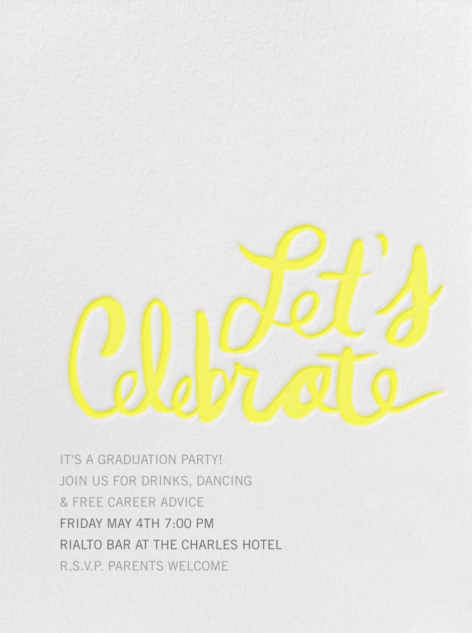 Let's Celebrate - Yellow - Linda and Harriett - Graduation party