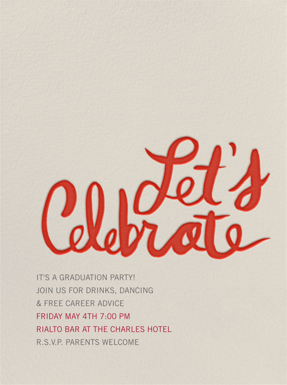 Let's Celebrate - Red - Linda and Harriett - Graduation party