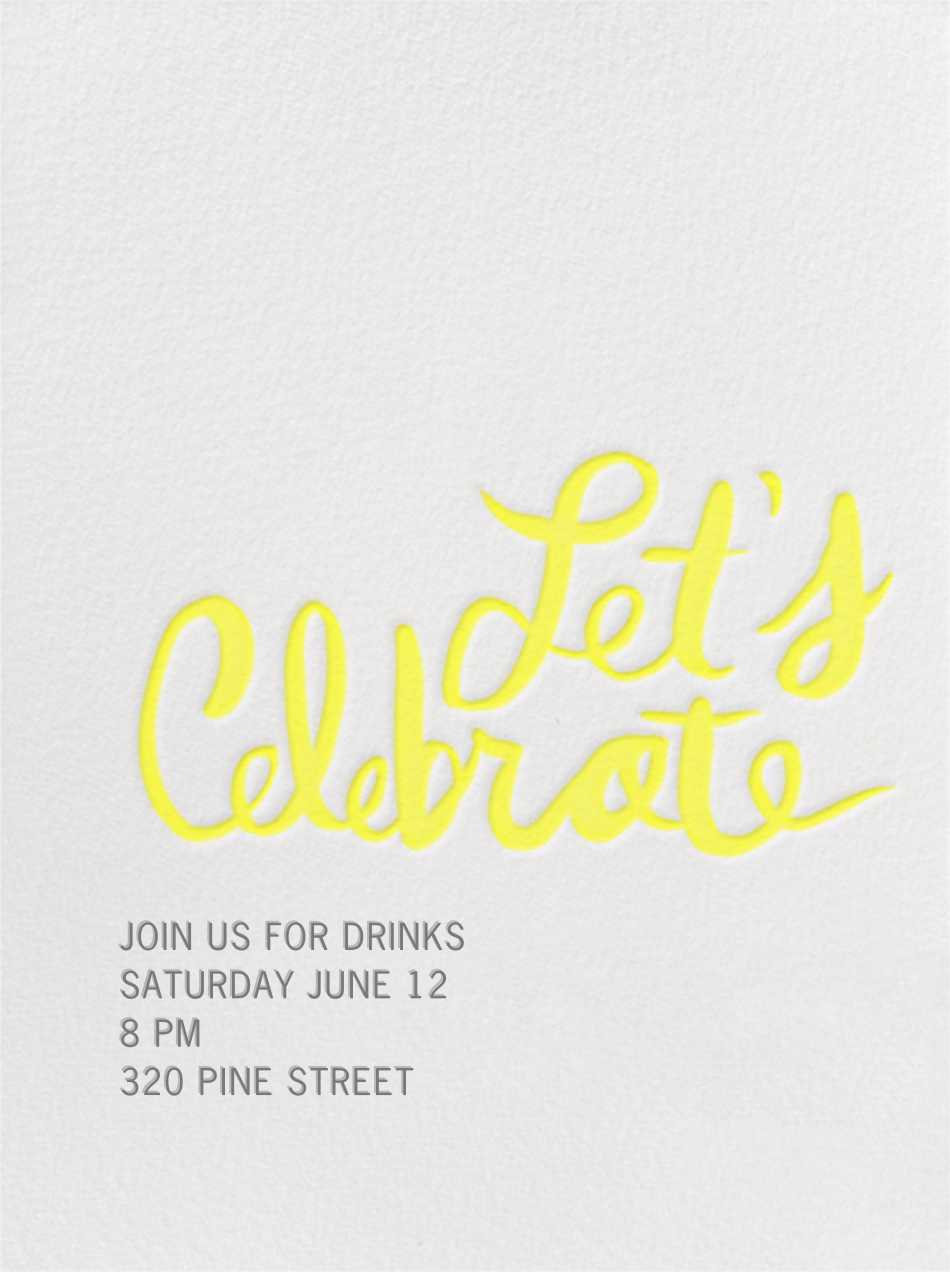 Let's Celebrate - Yellow - Linda and Harriett - Cocktail party