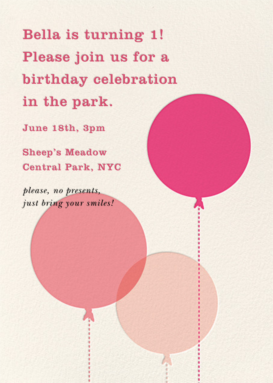 Balloon Baby - Pink - kate spade new york - First birthday and baby