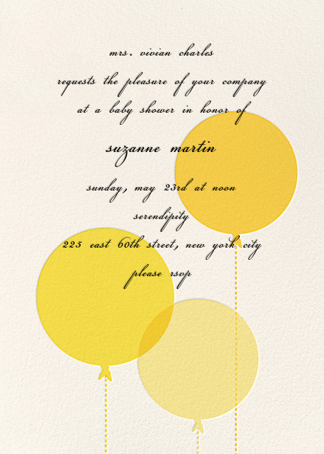 Balloon Baby - Yellow - kate spade new york - Baby shower