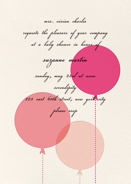 Balloon Baby - Pink - kate spade new york - Baby shower