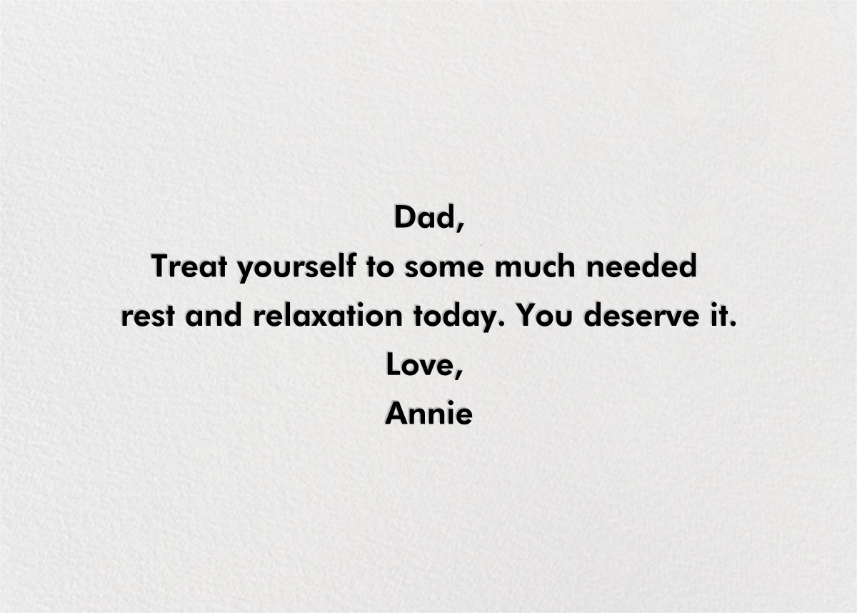 Dad's Favorite Frame - White - Paperless Post - Father's Day - card back