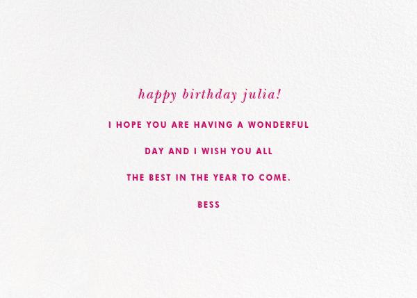 B-Day Sprinkles - kate spade new york - Birthday - card back