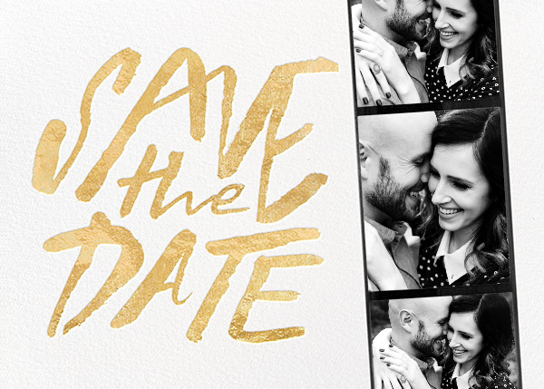 Photo Booth Save the Date - Gold - kate spade new york - Modern
