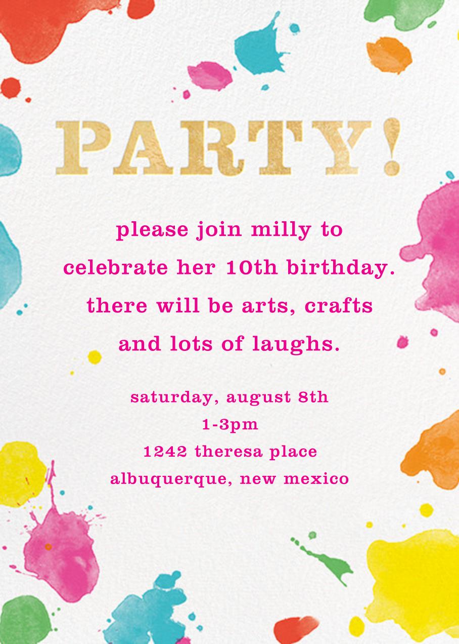 Splatter Paint - Gold - kate spade new york - Kids' birthday