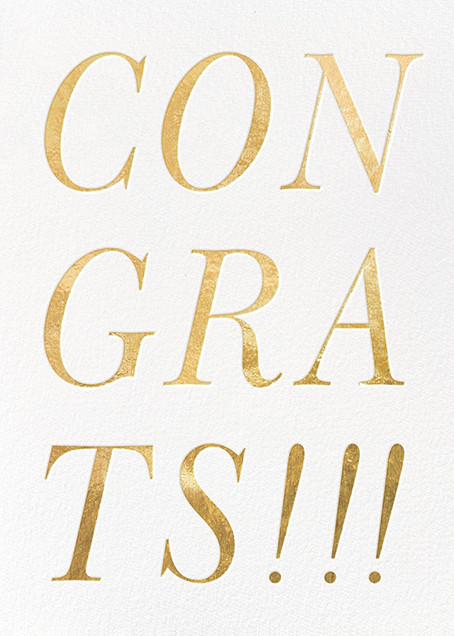 Gold Congrats - kate spade new york - Congratulations