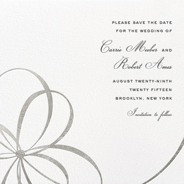 Belle Boulevard (Save the Date) - Silver - kate spade new york - Save the date