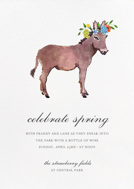 Donkey in the Meadow - Happy Menocal - Spring entertaining