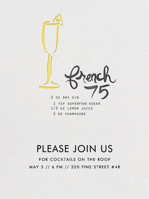 French 75 - Linda and Harriett - Cocktail party