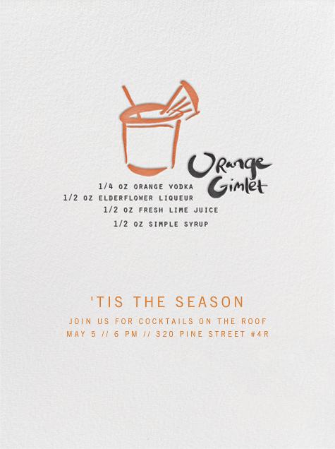 Orange Gimlet - Linda and Harriett - Cocktail party