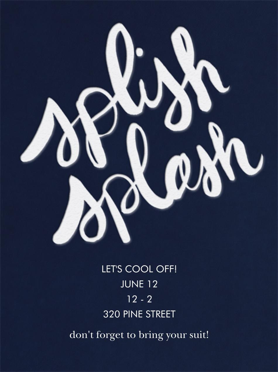 Splish Splash - Dark Blue - Linda and Harriett - Pool party