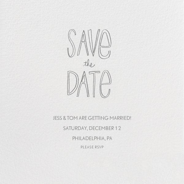 Save The Date Handwriting - Linda and Harriett - Save the date