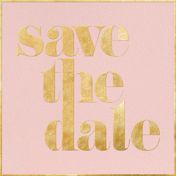 A Golden Date - Rose/Gold - kate spade new york - Party save the dates
