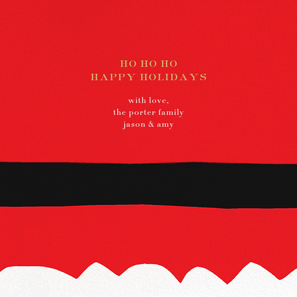 Ho Ho Ho Santa Belt (Greeting) - kate spade new york - Christmas - card back