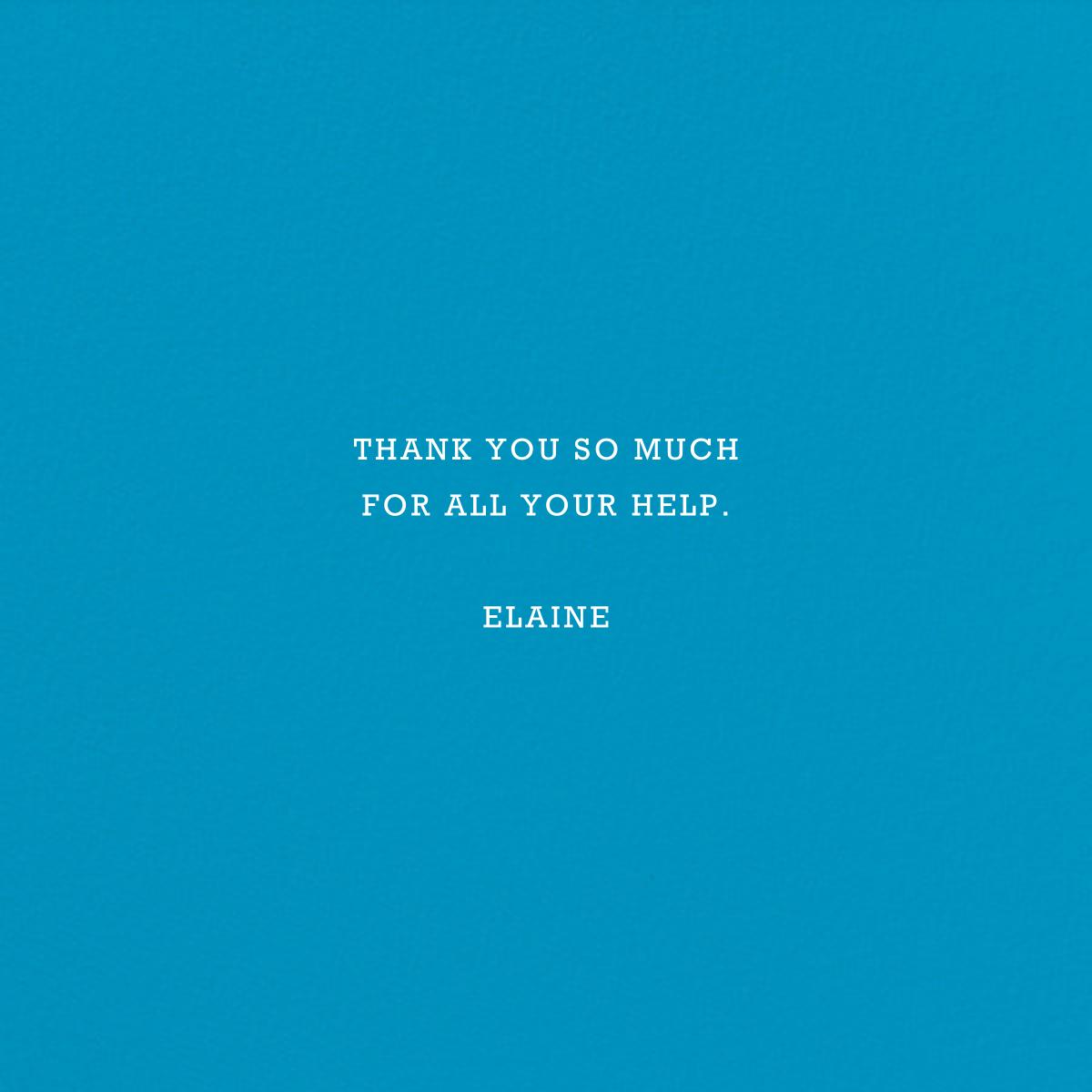 Danke - Blue - Jonathan Adler - Thank you - card back