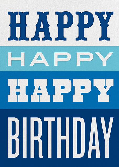 Happy Happy Happy - Blue - Jonathan Adler - Birthday