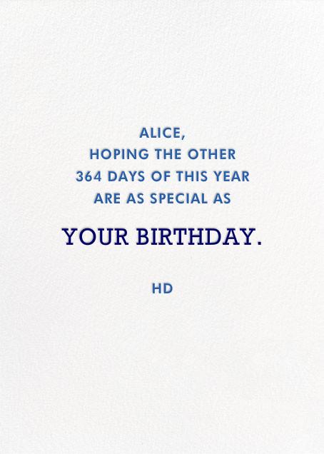 Happy Happy Happy - Blue - Jonathan Adler - Birthday - card back