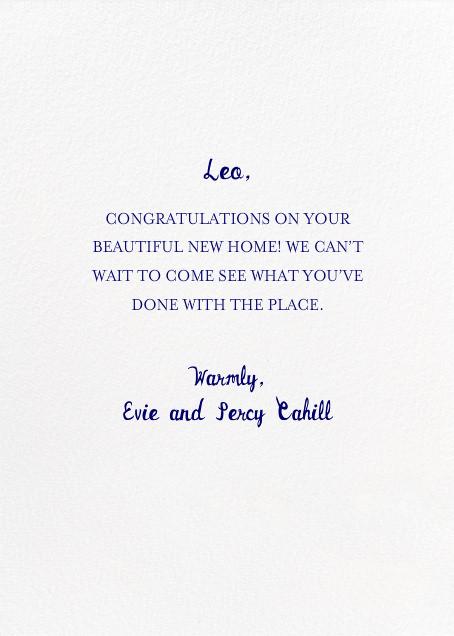 MASH - Mr. Boddington's Studio - Congratulations - card back